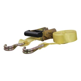 14' Yellow Cargo Strap with J-Hooks (1,667 lbs.)