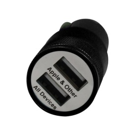 DUAL USB CAR CHARGER BLK