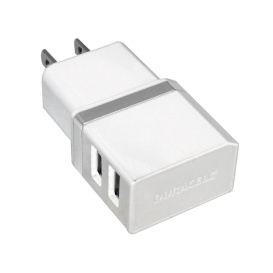 DUAL USB AC CHARGER WHT