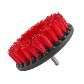 Brush HD Heavy Duty Carpet Brush with Drill Attachment, Red