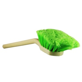 """20"""" Long Handle Body/Wheel Brush with Flagged-Tip Bristles (Angled Head)"""