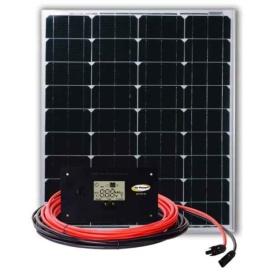 Black Standard Valterra Power Us, LLC Solar Trickle Charger 80W 4.6A Kit