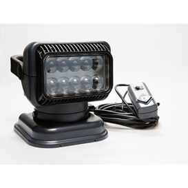 LED Portable Searchlight with Wired Remote Grey/Black
