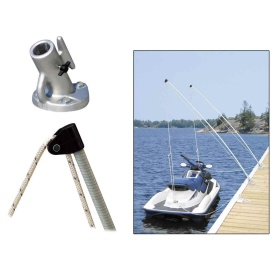 Economy Mooring Whips 2PC 12ft 4000 LBS up to 23 ft