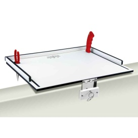 "Econo Mate Bait Filet Table - 20"" - White/Black"
