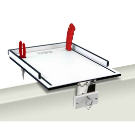 "Econo Mate Bait Filet Table - 12"" - White/Black"
