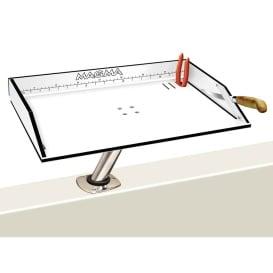 "Bait/Filet Mate Table w/LeveLock Mount - 20"" - White/Black"