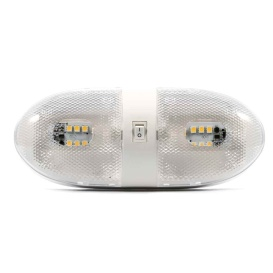 LED Double Dome Light - 12VDC - 320 Lumens