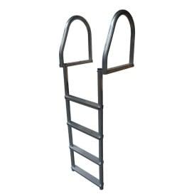 Aluminum 4-Step Eco Flip-Up Dock Ladder - Weld Free
