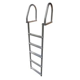 Aluminum 5-Step Eco Flip-Up Dock Ladder - Weld Free