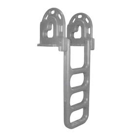Flip-Up Polyethylene Roto Molded 4-Step Dock Ladder - Grey