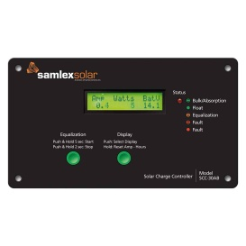 Flush Mount Solar Charge Controller w/LCD Display - 30A