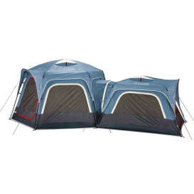 3-Person  &  6-Person Connectable Tent Bundle w/Fast Pitch Setup - Set of 2 - Blue