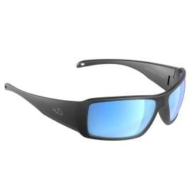 Stream Sunglasses Matt Gun Metal, Grey Blue Flash Mirror Lens Cat.3 - AntiSalt Coating w/Floatable Cord
