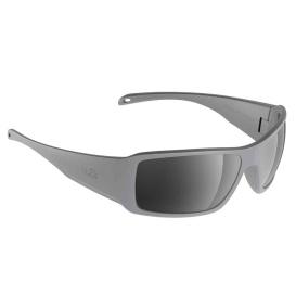 Stream Sunglasses Matt Grey, Grey Silver Flash Mirror Lens Cat.3 - AntiSalt Coating w/Floatable Cord