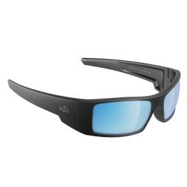 Waders Sunglasses Matt Gun Metal, Grey Blue Flash Mirror Lens Cat.3 - AntiSalt Coating w/Floatable Cord