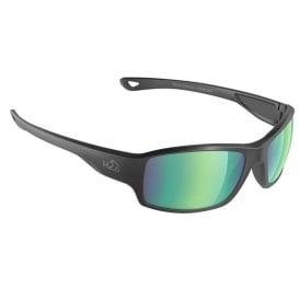 Beachwalker Sunglasses Matt Black, Brown Green Flash Mirror Lens Cat. 3 - AR Coating