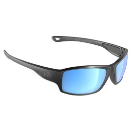 Beachwalker Sunglasses Matt Gun Metal, Grey Blue Flash Mirror Lens Cat. 3 - AR Coating