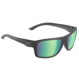 Grayton Sunglasses Matt Black, Brown Green Flash Mirror Lens Cat. 3 - AR Coating