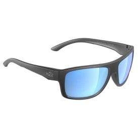 Grayton Sunglasses Matt Gun Metal, Grey Blue Flash Mirror Lens Cat. 3 - AR Coating