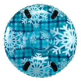 """43"""" Pipeline Sno  Clear Top Racer Sno-Tube - Cool Blue Plaid"""
