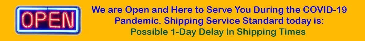 COVID-19 1-Day Shipping Delay